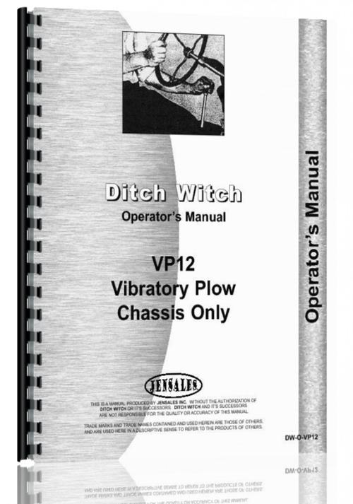 ditch witch vp 12 vibratory plow operators manual rh themanualstore com ditch witch jt1720 operators manual ditch witch jt2020 operators manual
