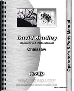 Operators & Parts Manual for David Bradley 917-60003 Chainsaw