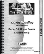 Service Manual for David Bradley Super 5.6 Walk Behind Tractor