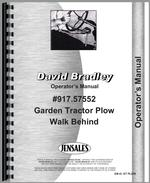 Operators Manual for David Bradley 917.57552 Plow