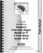 Parts Manual for Dearborn 22-11 Post Hole Digger
