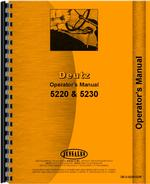 Operators Manual for Deutz (Allis) 5230 Tractor