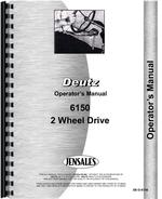Operators Manual for Deutz (Allis) 6150 Tractor