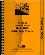 Operators Manual for Deutz (Allis) 6250 Tractor