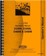 Operators Manual for Deutz (Allis) D3006 Tractor