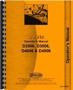 Operators Manual for Deutz (Allis) D3006 Tractor