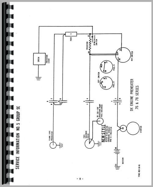 deutz  allis  d3607 tractor wiring diagram service manual