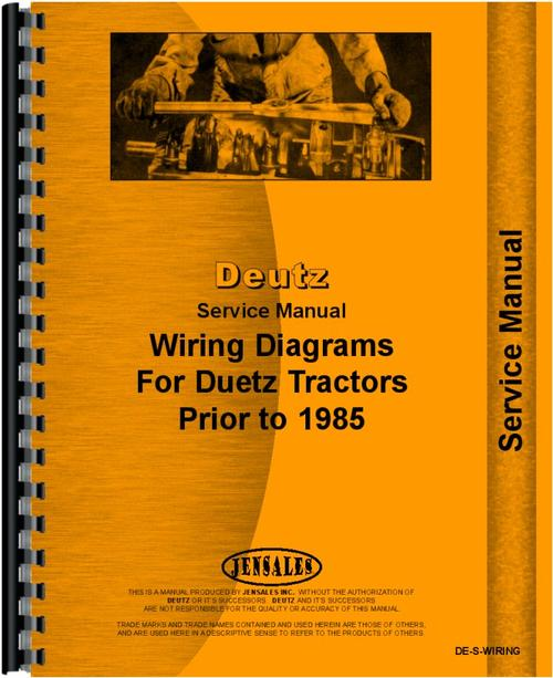 Deutz  Allis  D5006 Tractor Wiring Diagram Service Manual