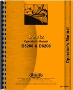Operators Manual for Deutz (Allis) D5206 Tractor