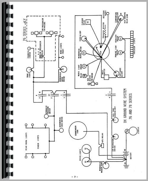 deutz  allis  d6206 tractor wiring diagram service manual
