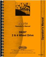 Operators Manual for Deutz (Allis) D6207 Tractor