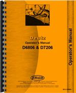 Operators Manual for Deutz (Allis) D6806 Tractor