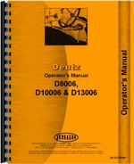 Operators Manual for Deutz (Allis) D8006 Tractor