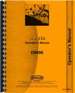 Operators Manual for Deutz (Allis) D9006 Tractor