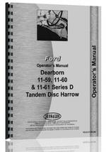 Operators Manual for Dearborn D Series Disc Harrow