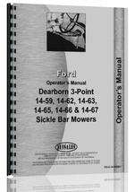 Operators Manual for Ford 14-59 Dearborn Sickle Bar Mower