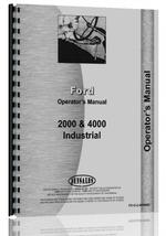 Operators Manual for Ford 2000 Industrial Tractor