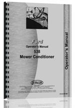 Operators Manual for Ford 538 Mower Conditioner