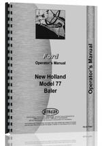 Operators Manual for New Holland 77 Baler