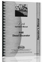 Operators Manual for Ford H48 Excavator