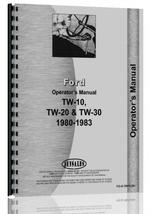 Operators Manual for Ford TW 20 Tractor