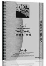Operators Manual for Ford TW 15 Tractor