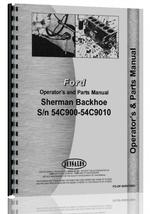 Operators Manual for Ford 850 Sherman 54C900 Backhoe Attachment