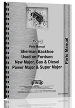 Parts Manual for Ford 54E Sherman 54E Backhoe Attachment