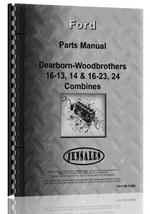 Parts Manual for Dearborn 16-13 Combine