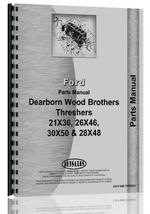 Parts Manual for Ford 28 x 48 Thresher