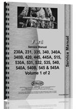 Service Manual for Ford 540A Industrial Tractor