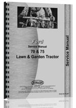 Service Manual for Ford 70 Lawn & Garden Tractor