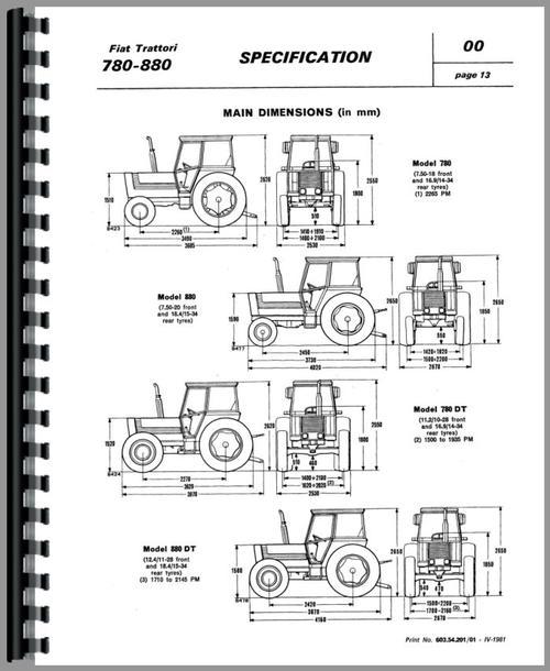 fiat 780 tractor service manual rh themanualstore com Hesston Fiat Tractor Fiat Tractor Parts