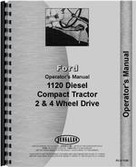 Operators Manual for Ford 1120 Tractor