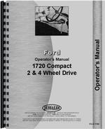 Operators Manual for Ford 1720 Tractor