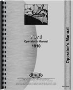 Operators Manual for Ford 1910 Tractor