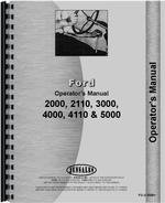 Operators Manual for Ford 2000 Tractor