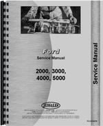 Service Manual for Ford 2000 Tractor Data