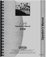 Operators Manual for Ford 2110 Tractor