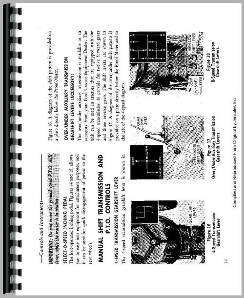 ford 2120 tractor operators manual ford 5000 tractor wiring diagram operators manual for ford 2120 tractor sample page from manual