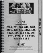 Service Manual for Ford 231 Industrial Tractor