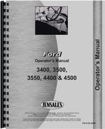 Operators Manual for Ford 3500 Industrial Tractor