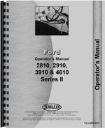Operators Manual for Ford 4610 Tractor