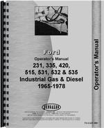 Operators Manual for Ford 532 Industrial Tractor