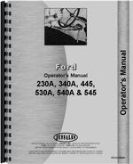 Operators Manual for Ford 540A Industrial Tractor