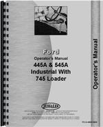 Operators Manual for Ford 545A Industrial Tractor