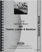 Operators Manual for Ford 550 Tractor Loader Backhoe
