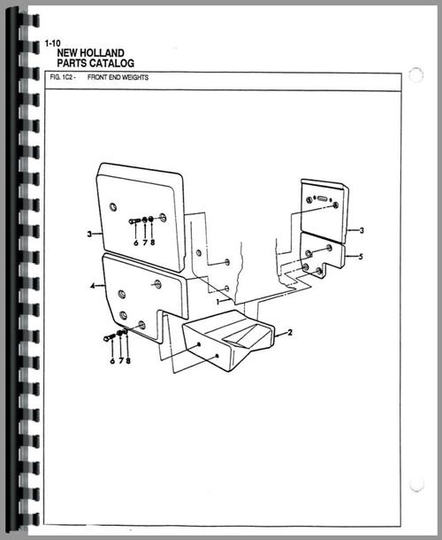 Ford 555 Tractor Loader Backhoe Parts Manual