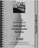 Operators Manual for Ford 555C Tractor Loader Backhoe