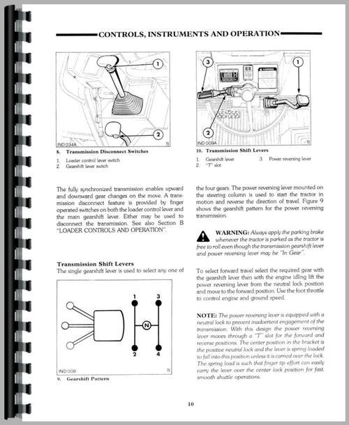 Ford 555D Tractor Loader Backhoe Operators Manual